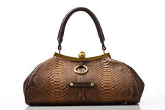 Bolsa de couro de Brown Imagem de Stock Royalty Free