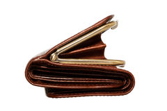 Bolsa de couro vazia Foto de Stock
