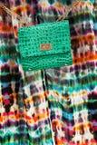 Bolsa de couro verde Imagens de Stock Royalty Free