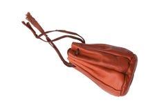Bolsa de cuero marrón vieja Fotos de archivo