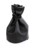 Bolsa de cuero negra Foto de archivo libre de regalías