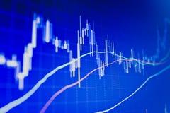 Bolsa de datos financieros Foto de archivo