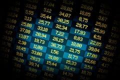 Bolsa de datos financieros. Proyector Foto de archivo