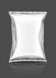 Bolsa de empaquetado del bocado en blanco Fotografía de archivo