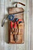 Bolsa de herramientas de cuero Imagen de archivo libre de regalías