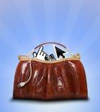 Bolsa de herramientas de las E-Compras Imagen de archivo libre de regalías