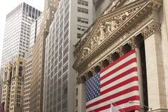 A Bolsa de Nova Iorque Fotos de Stock Royalty Free