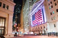 A Bolsa de Nova Iorque de Manhattan Wall Street Foto de Stock Royalty Free