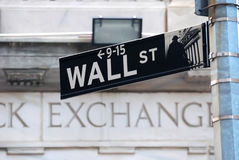 A Bolsa de Nova Iorque de Wall Street Fotos de Stock