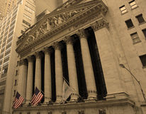 A Bolsa de Nova Iorque de Wall Street Imagens de Stock Royalty Free