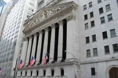 A Bolsa de Nova Iorque, Wall Street Fotos de Stock Royalty Free