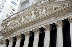 A Bolsa de Nova Iorque, Wall Street Fotos de Stock