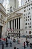 A Bolsa de Nova Iorque, Wall Street Imagens de Stock
