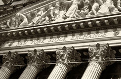 A Bolsa de Nova Iorque Wall Street Imagem de Stock Royalty Free