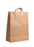Bolsa de papel aislada en blanco Foto de archivo libre de regalías