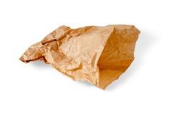 Bolsa de papel arrugada Fotos de archivo libres de regalías