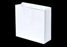 Bolsa de papel blanca de las compras imagen de archivo libre de regalías