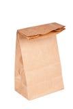 Bolsa de papel (bolso del almuerzo) aislada Imagen de archivo libre de regalías