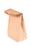 Bolsa de papel (bolso del almuerzo) aislada Foto de archivo