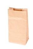 Bolsa de papel (bolso del almuerzo) aislada Imagenes de archivo