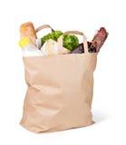 Bolsa de papel con el alimento imágenes de archivo libres de regalías