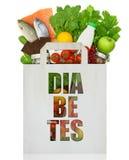 Bolsa de papel con la diabetes de la palabra Foto de archivo libre de regalías