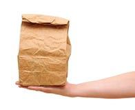 Bolsa de papel de Brown foto de archivo