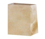 Bolsa de papel de Brown Fotografía de archivo libre de regalías