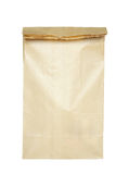 Bolsa de papel de Brown aislada Imagen de archivo