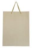 Bolsa de papel de Brown aislada en blanco Imagen de archivo libre de regalías