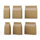 Bolsa de papel de Brown que empaqueta para los productos generales con la palmadita del recortes Imágenes de archivo libres de regalías