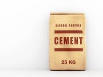 Bolsa de papel del cemento Fotografía de archivo
