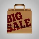 Bolsa de papel grande de la venta Imagen de archivo libre de regalías