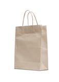 Bolsa de papel marrón en blanco Imágenes de archivo libres de regalías
