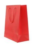 Bolsa de papel roja Imagenes de archivo