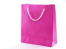 Bolsa de papel rosada Imágenes de archivo libres de regalías