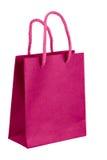 Bolsa de papel rosada. Imagenes de archivo