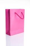 Bolsa de papel rosada de las compras Imagen de archivo