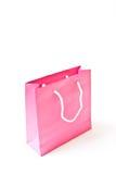 Bolsa de papel rosada de las compras Foto de archivo libre de regalías