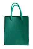 Bolsa de papel verde. Imagenes de archivo