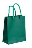 Bolsa de papel verde. Fotos de archivo libres de regalías