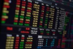 A bolsa de valores Foto de Stock