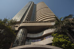 A bolsa de valores de Bombaim em Mumbai Fotografia de Stock
