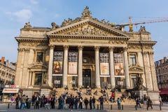 A bolsa de valores de Bruxelas Foto de Stock