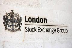 A bolsa de valores de Londres Fotografia de Stock