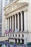 A bolsa de valores de NY, Wall Street Fotografia de Stock