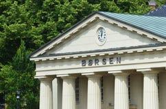 A bolsa de valores de Oslo (Oslo Børs) Foto de Stock Royalty Free