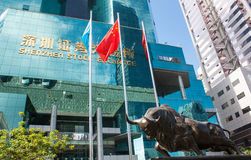 A bolsa de valores de Shenzhen imagens de stock