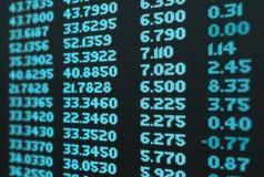 A bolsa de valores do negócio Imagem de Stock