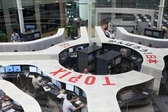 A bolsa de valores do Tóquio no Tóquio, Japão Imagem de Stock